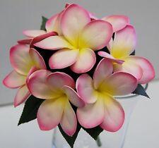 Wedding bouquet latex frangipani cream pink posy artificial flower flowers