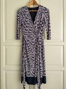 David Lawrence Faux Wrap Dress Size XS