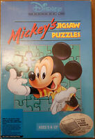 "VINTAGE! Mickey's Jigsaw Puzzles Disney Software IBM PC 5.25"" Floppy Disks RARE!"
