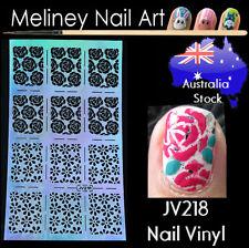 JV218 Rose Flower Nail Vinyl Sticker decoration Stencil Vinyls Art Daisy Craft