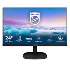 """PHILIPS MONITOR V LINE 24"""" LED IPS FULL HD THREE SIDE 1080P HDMI 243V7QDSB PC"""