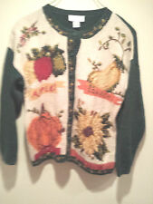 Vintage Thanksgiving Holiday Sweater - Large Casual Croner Fall Harvest Pumpkin!