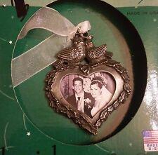 NIB Gloria Duchin Christmas Ornament Doves Framed Heart Wedding Gift