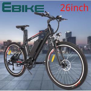 NEW Electric Bikes Mountain Bike 26inch Ebike E-Citybike Bicycle 36V 30km/h 250W