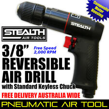 """STEALTH AIR TOOL 3/8"""" Reversible Air Drill Keyless Chuck Composite Free Delivery"""