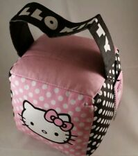 "Hello Kitty pink fabric door stop 6"" cube - NEW"