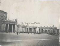 Place Saint-Pierre Roma Vaticano Roma Italia Foto Amateur Vintage Ca 1900