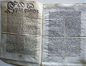 Beautiful manuscript Spain Burgos censo 1497 vellum parchment 15th century