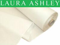 60 Meter CM Laura Ashley CM Naturweiss 100% Baumwolle Satin Vorhang Futter Stoff