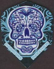 Blue Mexican Death Skull Dart Flights: 3 per set