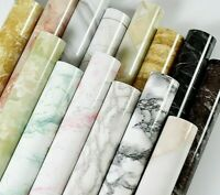 Adhesive Marble Vinyl Wallpaper Roll Furniture & Decorative Waterproof Stickers