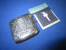 EDWARDIAN BIRMINGHAM 1908 SILVER MATCH HOLDER VESTA CASE MATCH SAFE STRIKER