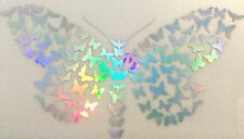 Butterfly Mini Rainbow Holographic Car Decal Sticker Laptop Window 15-96 Large