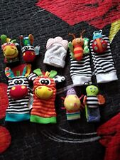 4PCS/2Set Rattle Set Baby Sensory Toys Socks Wrist Rattles Bracelet