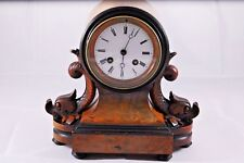 "Antique/Vintage French Wooden Mantle Clock in Working Order "" Nice """