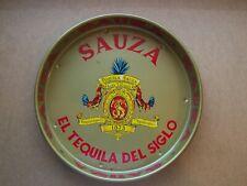 """vintage Sauza El Tequila Del Siglo metal serving tray, 13"""", Made in Mexico, nice"""