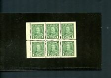 LOT 79343 MINT NH 217b  BOOKLET PANE : KING GEORGE V PICTORIAL ISSUE