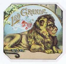 Leo Grande, original outer cigar box label, lion