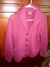 Merrell Button Down Purple Pink Unlined Jacket w/ Shawl Collar Lge Hardly Worn
