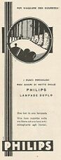 W1630 PHILIPS - Lampade Duplo - Pubblicità del 1930 - Old advertising
