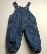 Baby B'gosh Overall 9M Months Denim Overalls Blue Pockets Snaps Unisex Casual