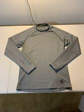 Men's Nike Pro Dri Fit Long Sleeve Fitted Shirt Size M Gray