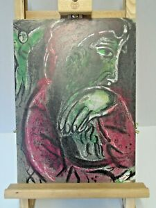 ORIGINAL Marc CHAGALL Lithographie 254 Hiob in d. Verzweiflung (Inkl. Expertise)