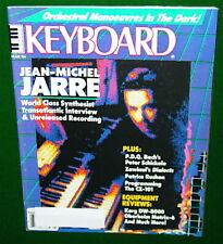 1986 KEYBOARD Magazine JEAN-MICHEL JARRE, Casio CZ-100 DW-8000 Oberheim Matrix-6