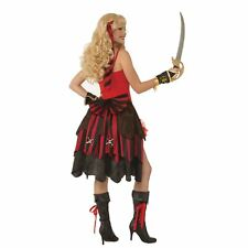 Women's Red Pin-On Pirate Buccaneer Bustle Skirt Halloween Costume Accessory
