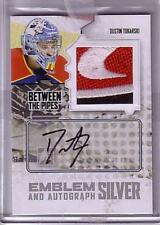 09-10 ITG BTP Between The Pipes Game-Used Emblem Auto Silver DUSTIN TOKARSKI /3