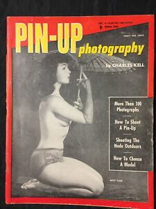 Vtg 1956 Pinup Photography Bettie Page Cover Girls Spicy Risque Girlie Pinups
