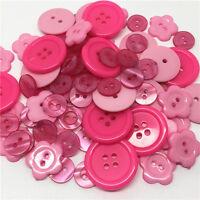 10 Bouton mixte rose 2/4 trous 11 à 23 mm Scrapbooking Mercerie couture création