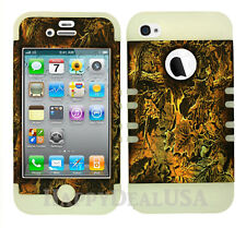 KoolKase Hybrid Silicone Cover Case for Apple iPhone 4 4S - Camo Mossy 03