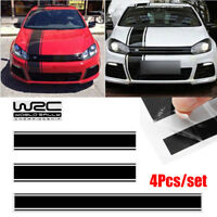 4Pcs/set Racing Car Vinyl Stripe Decals Stickers for Cover/Roof/Trunk/Side Doors