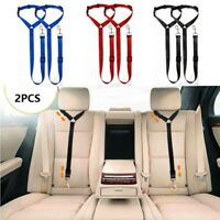 1-2PCS Dog Car Safety Seat Belt Restraint Harness Leash Travel Clip for Pet Cat