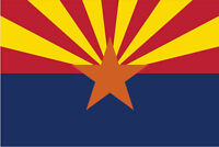 ARIZONA STATE FLAG DECAL STICKER 3M VINYL USA MADE TRUCK VEHICLE WINDOW WALL CAR