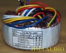 toroidal transformer 170V 0.15A 6.3V 3.15Vx2 2A for tube preamp headphone amp !