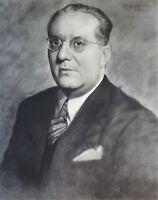Painting by Armando Maribona. Portrait, 1944. Original Art Signed.