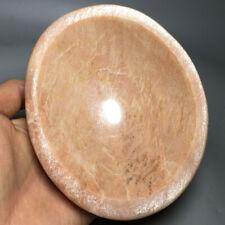 617g Natural peach moon stone bowl Quartz Crystal bowl Healing