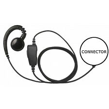 1-Wire Swivel Fiber Cloth Earpiece Mic Large Speaker for Hyt Pd-682 (See List)