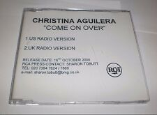 Christina Aguilera Come On Over 2 trk Test Press Promo CD
