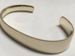 "Kendra Scott Hammer Brush Thick Gold Plated Bracelet Bangle Adjustable 7""New KC4"