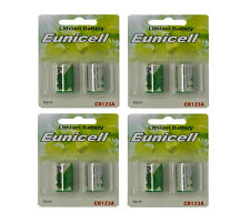 8 x CR123A Lithium Batterie ( 4 Blistercards a 2 Batterien) Markenware Eunicell