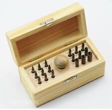 18pcs Round Bezel Setting Punch Punches Stone Ring Gemstone Burnish Set Tool Set