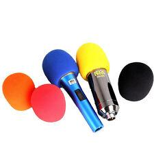 Satz 10 Stück Handheld Mehrfarben Mikrofon Windschutz Popschutz aus Schaumstoff
