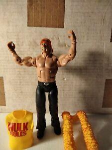2011 WWE Hollywood Hulk Hogan Mattel Action Figure Bonus Boa And Shirt