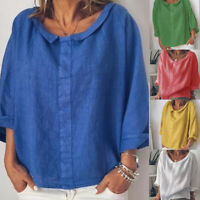 Plus Size Womens Long Sleeve  Baggy T-Shirt  Ladies Summer Tunic Tops Blouse