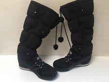 Onitsuka Tiger HN582 Sneaker Black Boots Winter Fur Lined Women Size 7.5