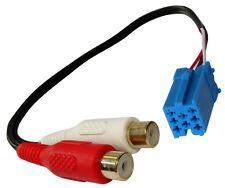 Adaptador cable mini-ISO AUX-IN a RCA para autoradio Becker Blaupunkt VDO