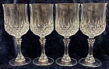 Cristal D'arques Longchamp White Wine Glass x 4.